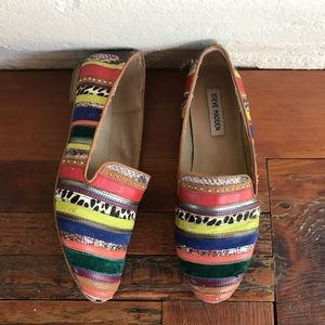 Steve Madden Conncord Striped Leather Pony Hair